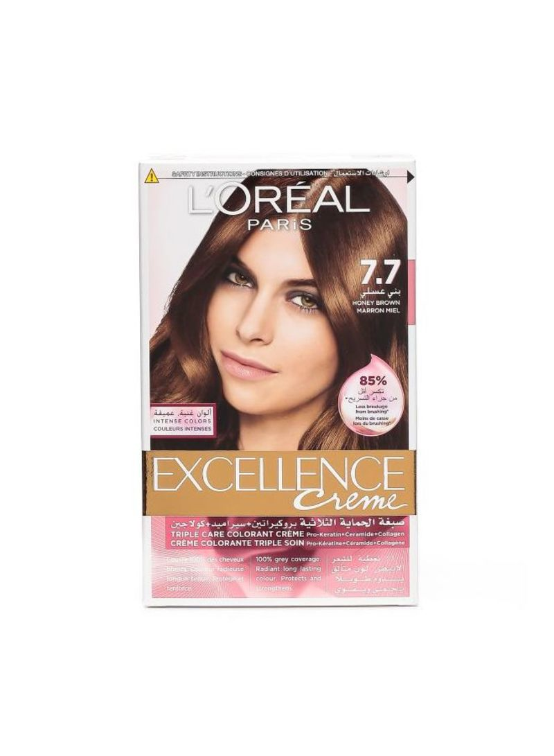 Excellence Crme Hair Color 77 Honey Brown Shop Online On Noon
