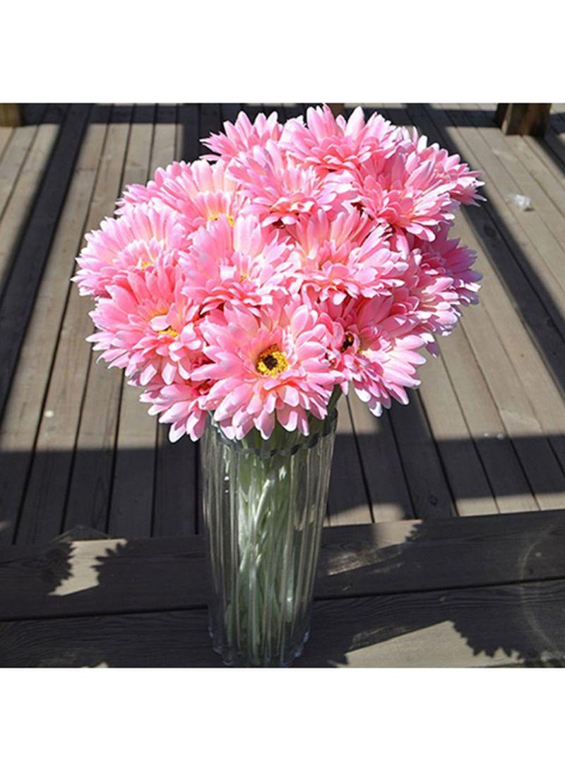 Artificial silk gerbera daisy flower bouquet pink 50 centimeter imagegalleryimg izmirmasajfo
